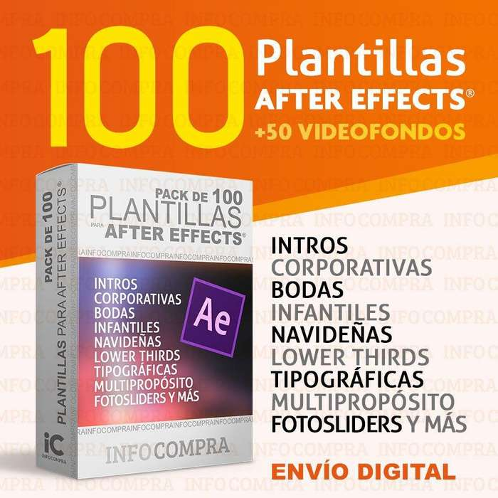 Pack De Plantillas After Effects Editables Profesionales