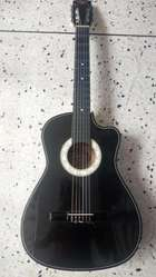 Guitarra Acústica Negra la madrileña