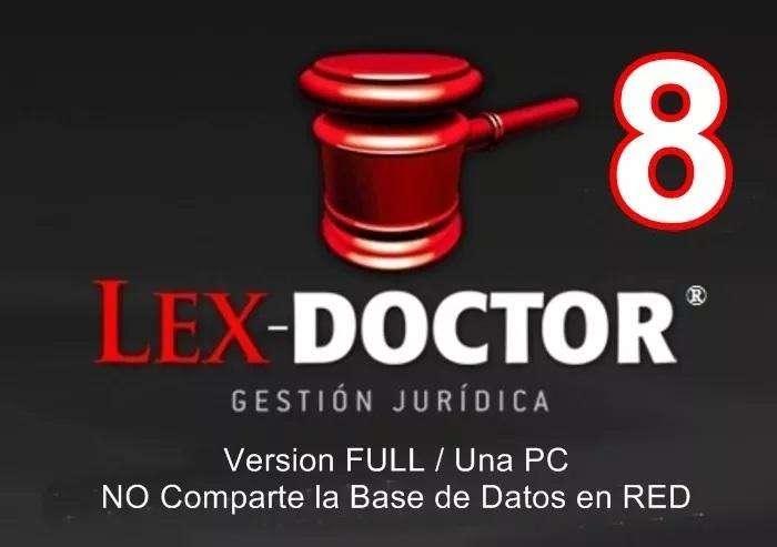 Lex Doctor 8 FULL para UNA PC Abogados o Estudios juridicos CHAVEZ Computacion