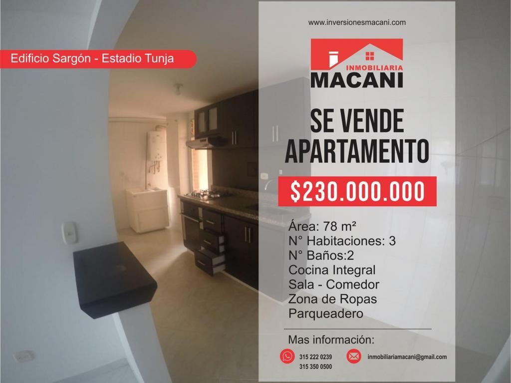 Se Vende Apartamento Edificio Sargón Estadio La Independencia