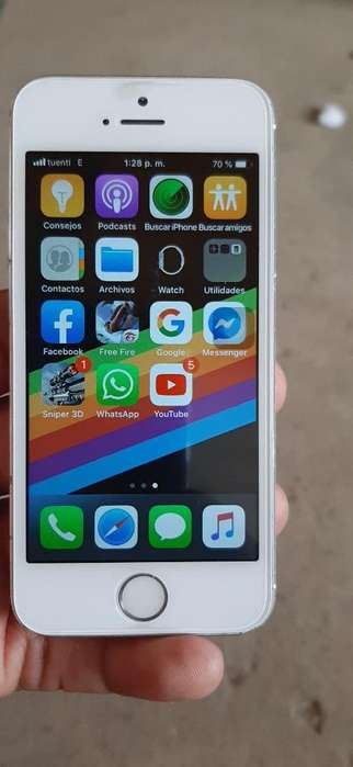 iPhone 5s de 16gb con Cable