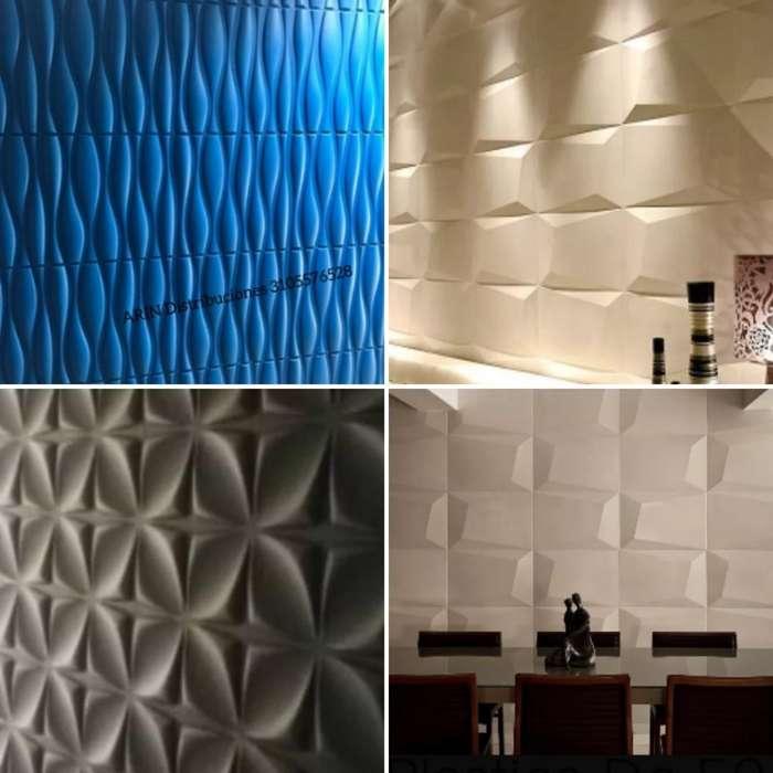 Panel Decorativo Pared 3d