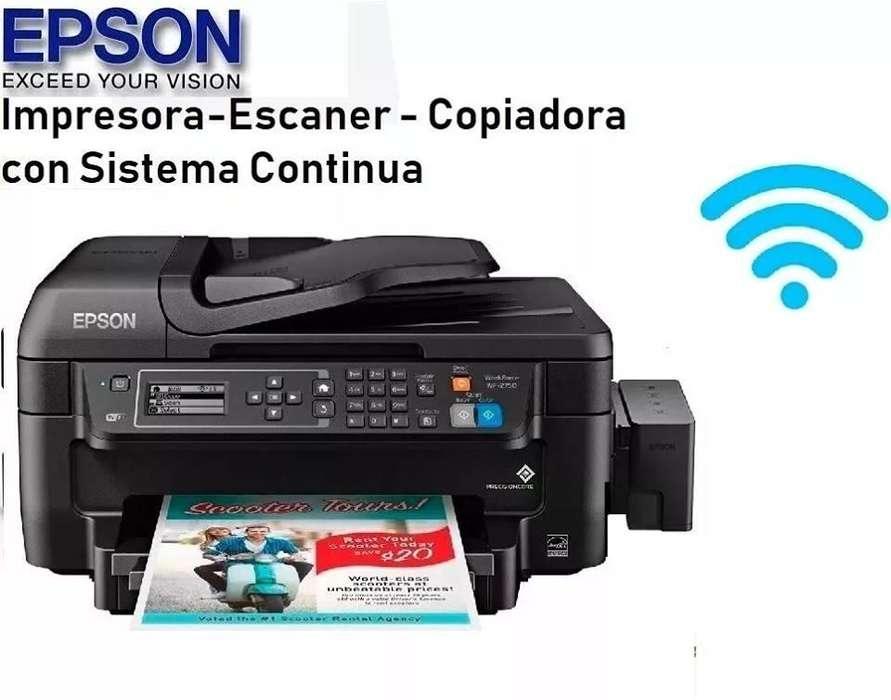 IMPRESORA EPSON WF2750 ADF DUPLEX WIFI