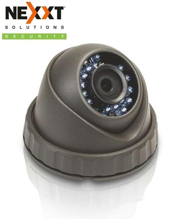 CAMARA CCTV TIPO DOMO NEXXT XPYH60MB HD TVI 720p 6mm DIA Y NOCHE OUTDOOR MAS CABLE MAS ADAPTADOR