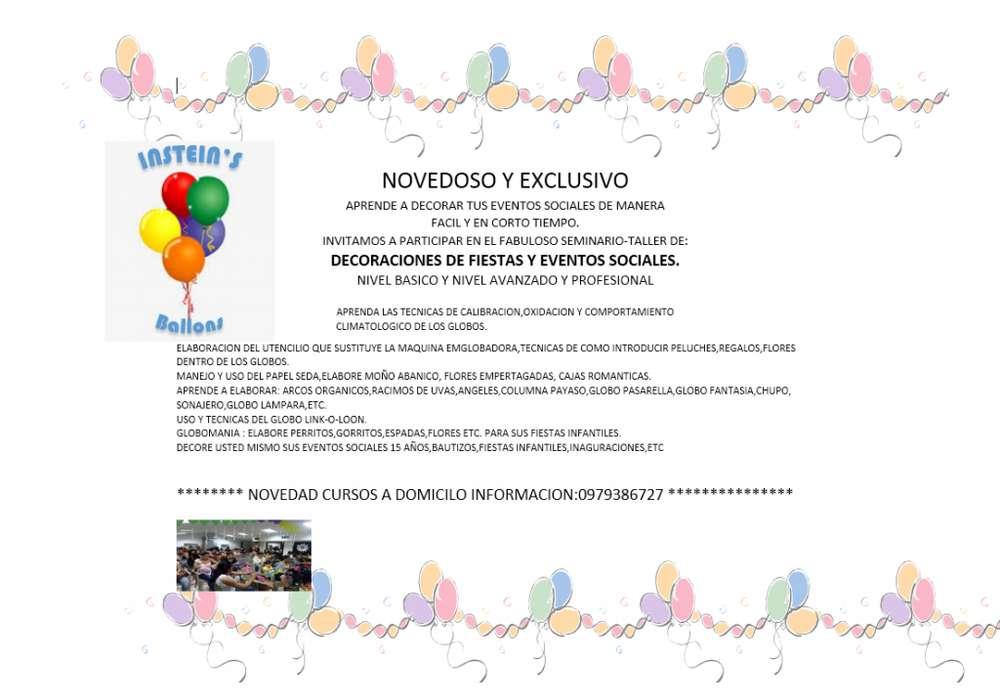 Curso De Decoracion Con Globos Ecuador Clases Cursos
