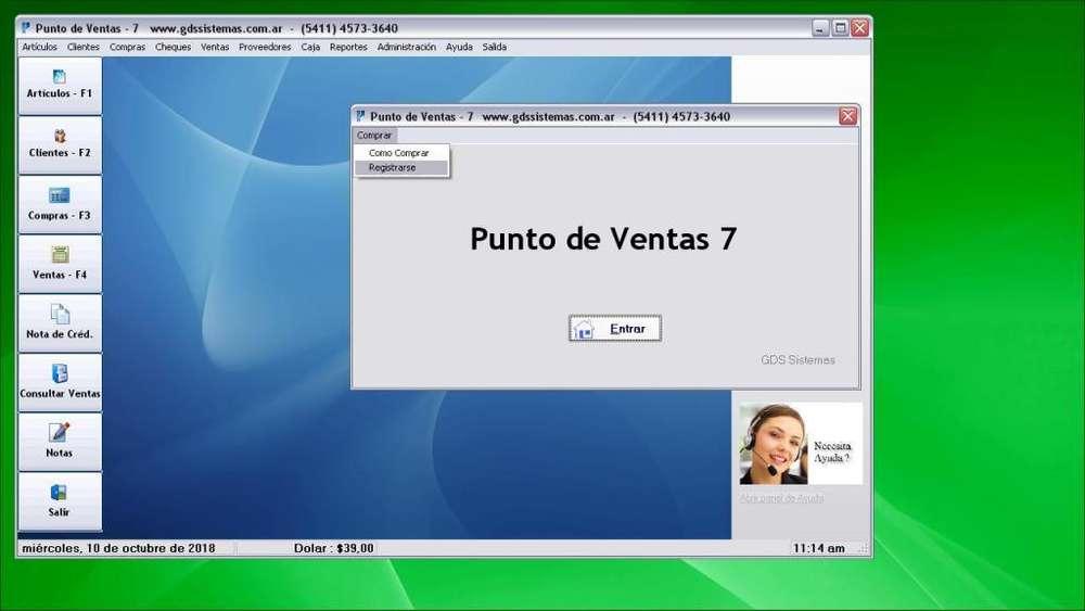 programa PUNTO de VENTAS 7 GDS Sistemas · software FÁCIL DE USAR - AFIP Fact. Electrónica