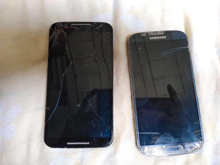 Motorola X2 Y Samsung S4 para Repuesto