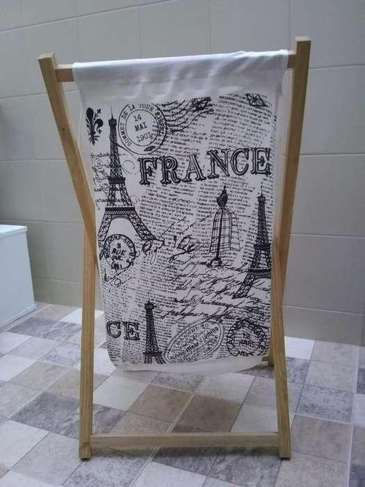 Homestyle <strong>cesta</strong> De Ropa Estampada France 69.5x39x41 Cm