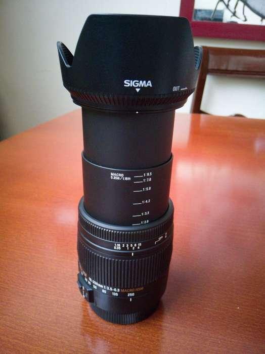 Lente Sigma para Canon 18 a 250 Mm