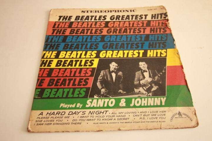 santo and johnny the beatles greatest hits LP vinilo edición perú rock 60s