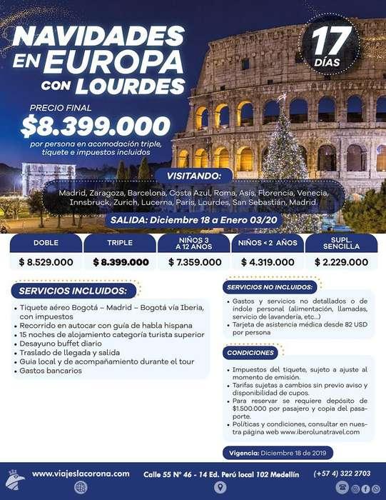 Viaje a EUROPA FIN DE AÑO con Viajes la Corona 2019-2020