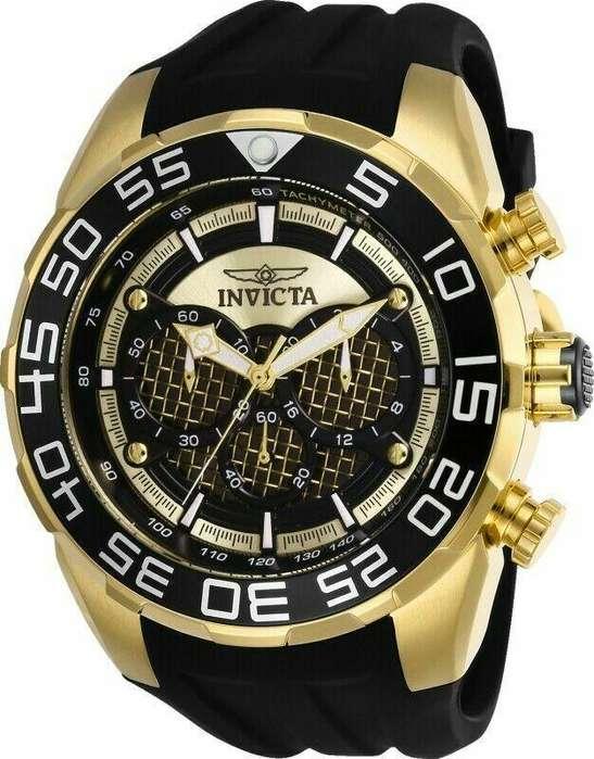 Reloj Hombre Invicta Speedway Dorado Negro Crono 26301