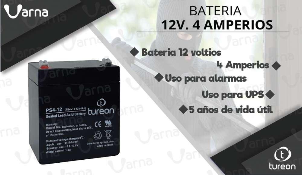Bateria 12 voltios. 4 amperios.