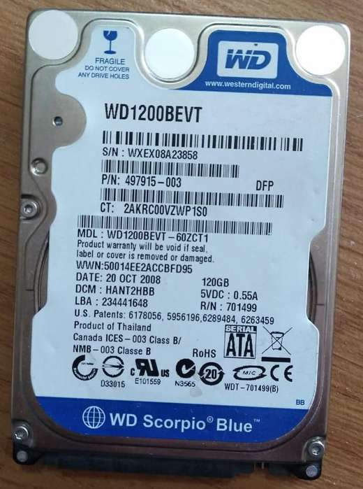 Disco Rigido Notebook 120gb Wester Blue