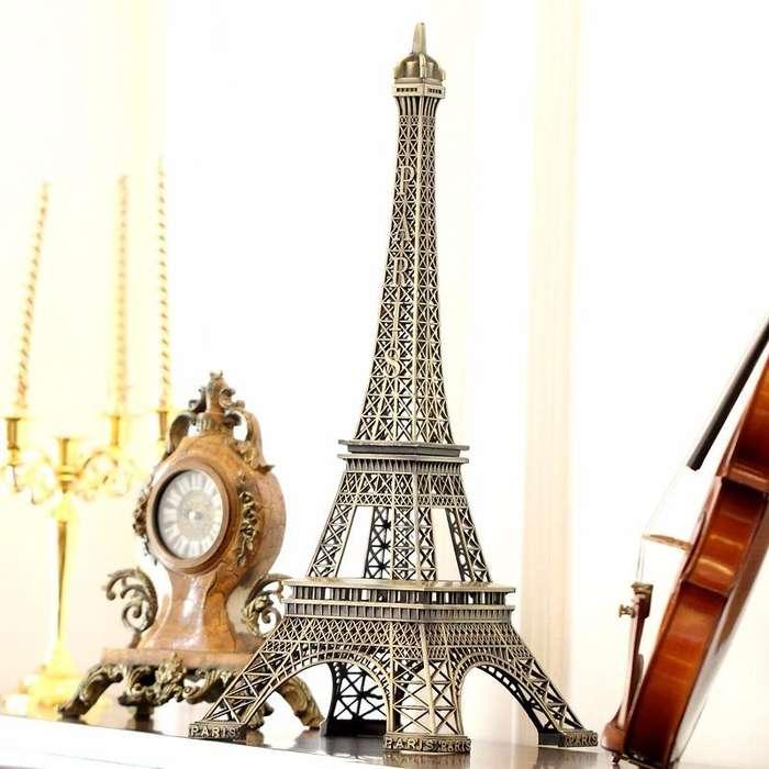 Torre Eiffel Metal De 39 Cm Decoracion Paris Adorno Francia