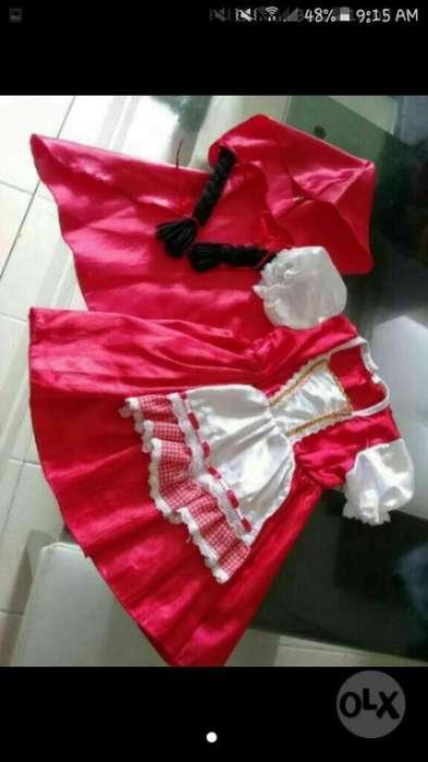 Disfraz Niña Bebe Caperusita Talla 12