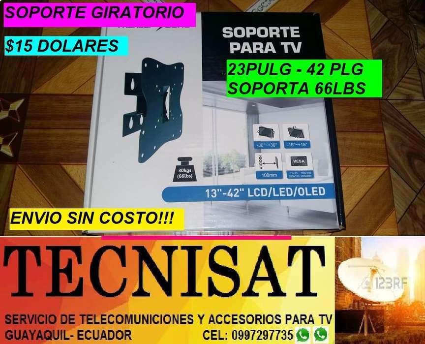 SOPORTE UN BRAZO GIRATORIO PARA TV DE 13 A 42 PULGADAS
