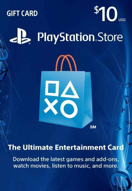 Tarjeta Prepago Play Station Store de 10 dolares Gift Card