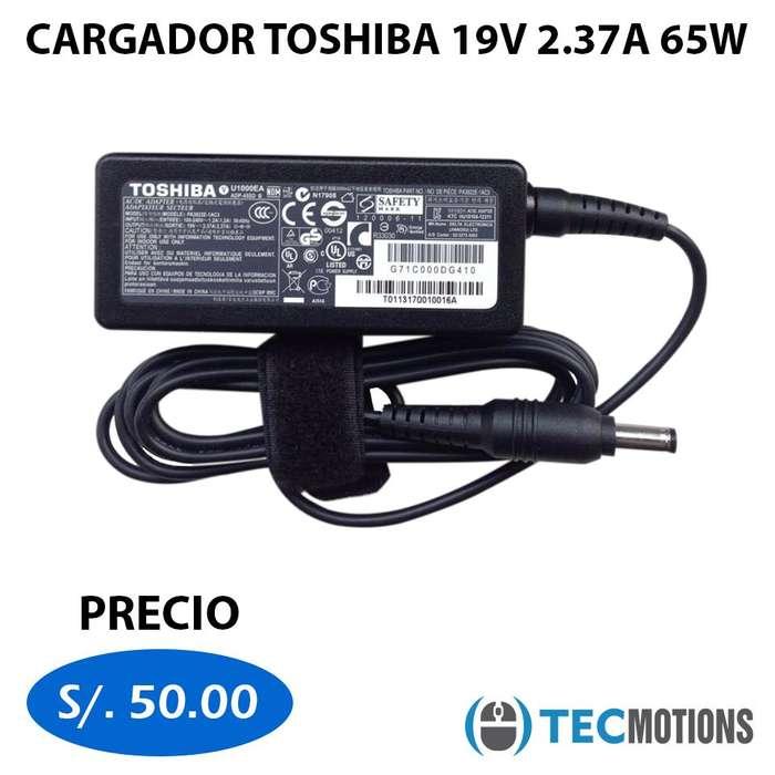 Cargador <strong>toshiba</strong> 19V 2.37A 65W