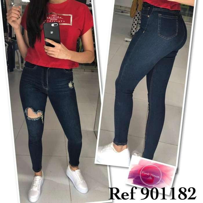 Jeans de damas en tela strech bausi