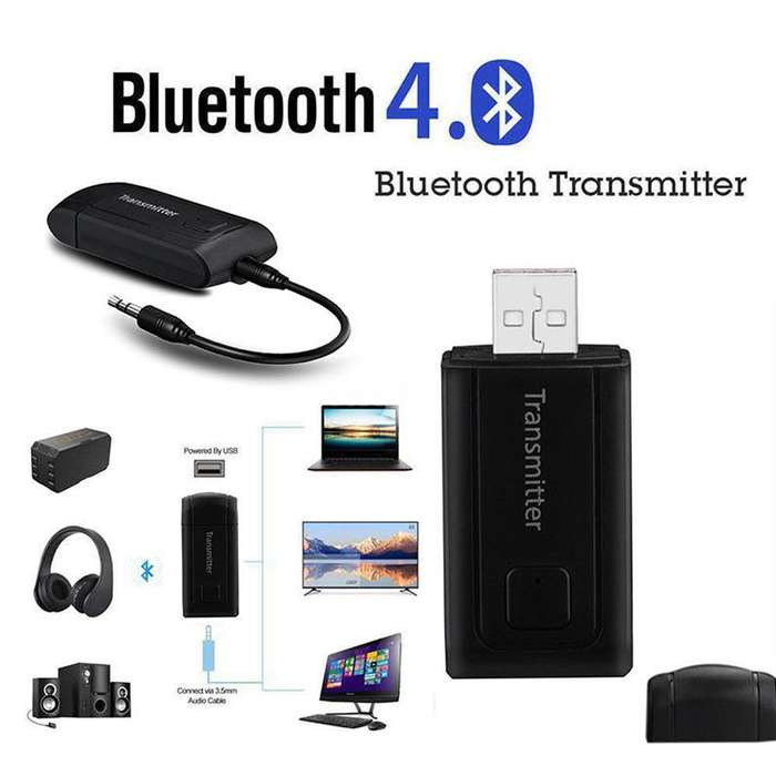 Adaptador Bluetooth Transmisor Inalambrico Audio Stereo Music 3.5mm