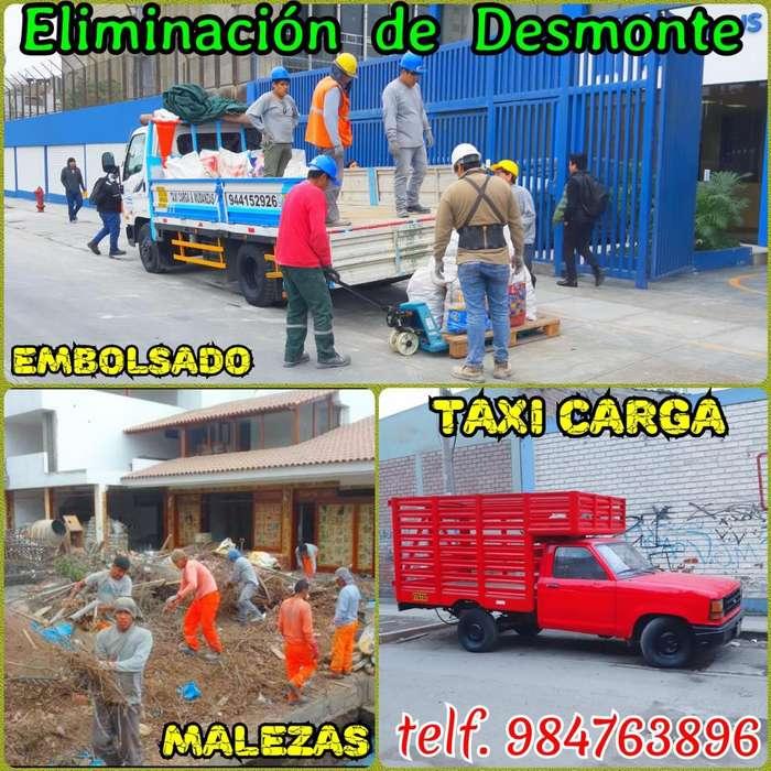 SERVICIO DE ELIMINACIÓN DESMONTE RECOJO DESMONTE LIMPIEZA DE TECHOS Y TAXI CARGA PRECIO RAZONABLE ATENCIÓN 24H