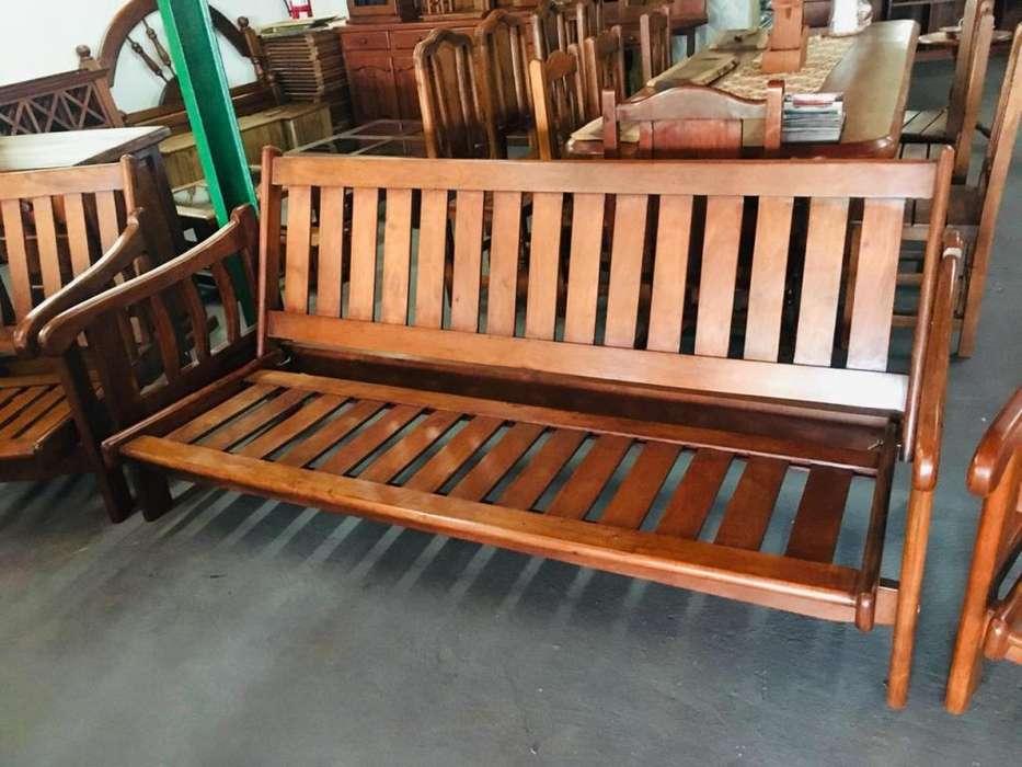 SILLON <strong>futon</strong> 3 CUERPOS DE ALGARROBO MACIZO