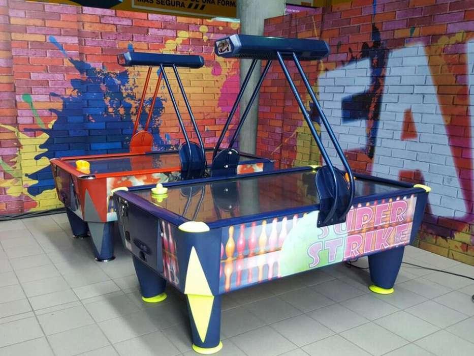 Máquinas Hockey de Mesa Alquiler Simulador Pelucheras