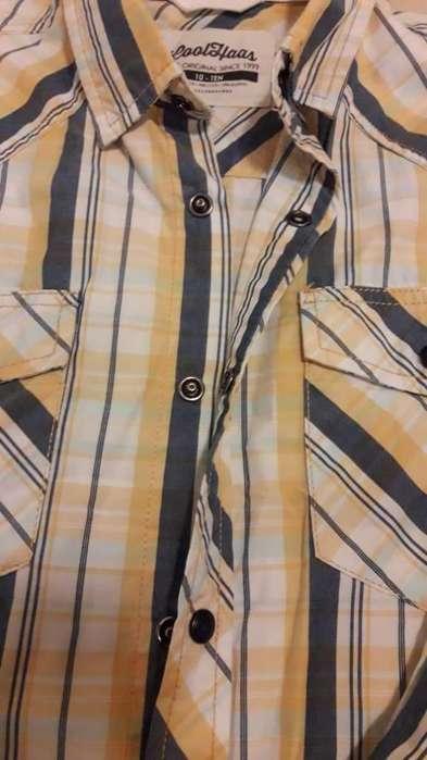 Hermosisima camisa mangas largas talle 10/12