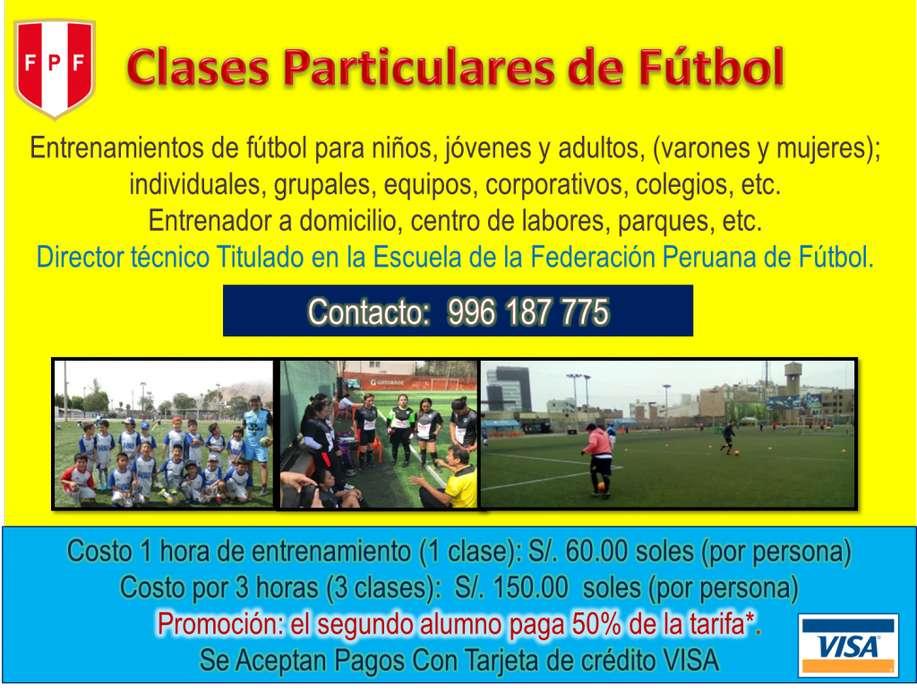 Entrenador de Fútbol Personalizado Clases de Fútbol Particulares