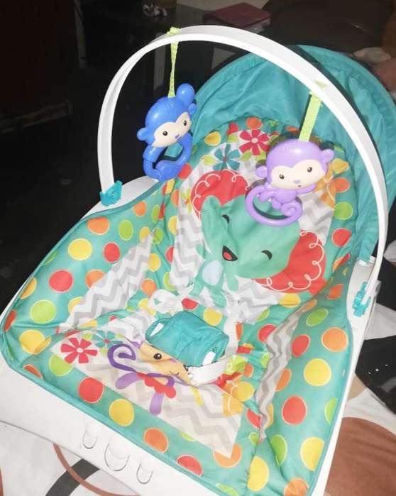 Silla Mesedora Vibradora para Bebé Niño