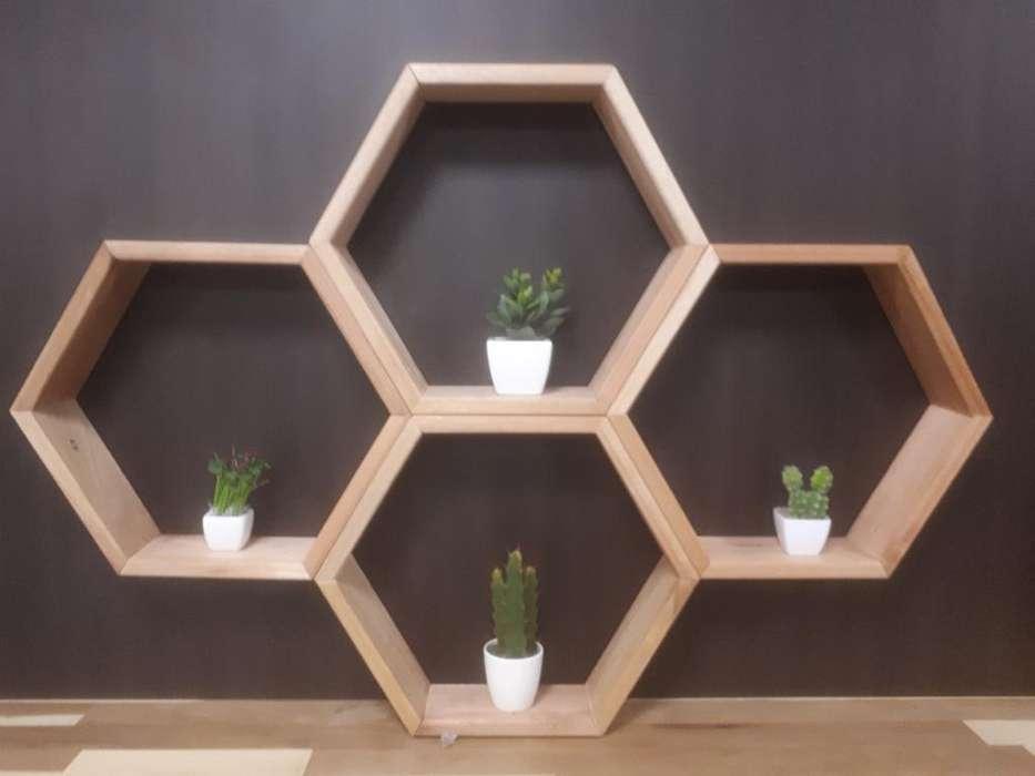 Estante Hexagonal 4 Modulos