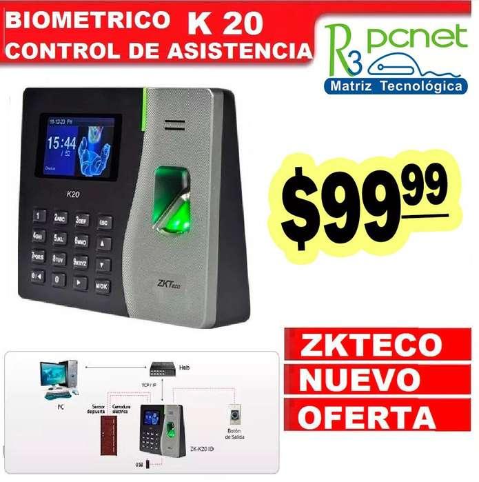 Excelente PROMOCION.... Control de Acceso / Biometrico Zk-Teco K20...