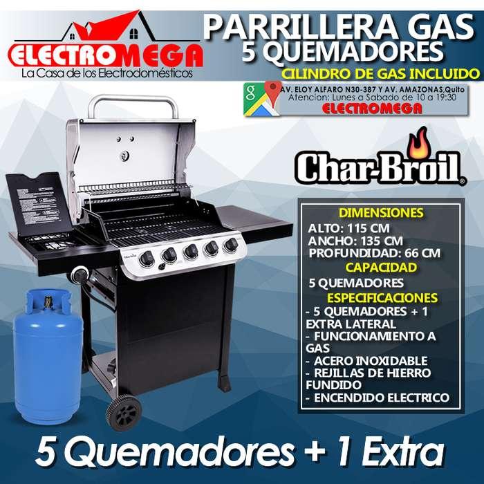 Parrilla A Gas De 5 Quemadores Charbroil Cilindro De Gas