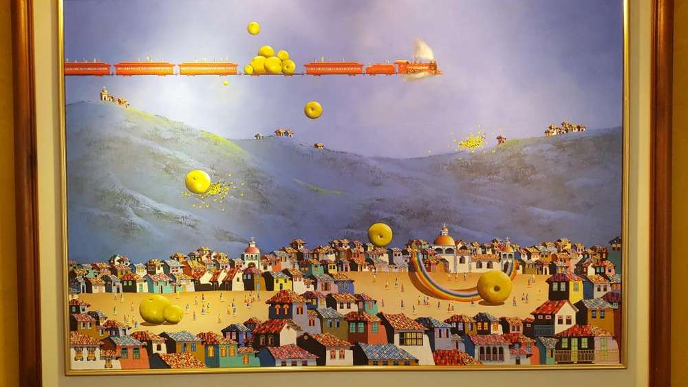 Pintura de Endara Crow de 120 x 0.80. 0999441940