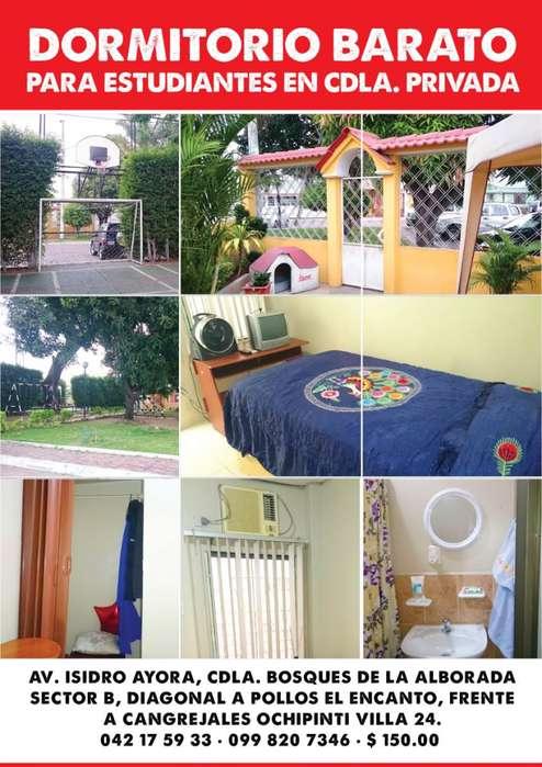 Habitaciones con entrada independientes para señoritas.