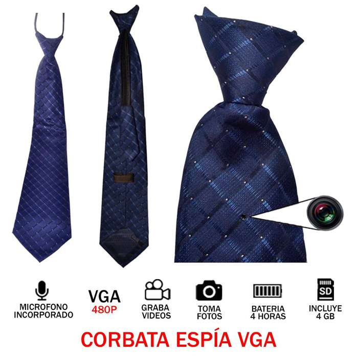 Corbata Espia Vga 4GB Audio Video Oculto 4H