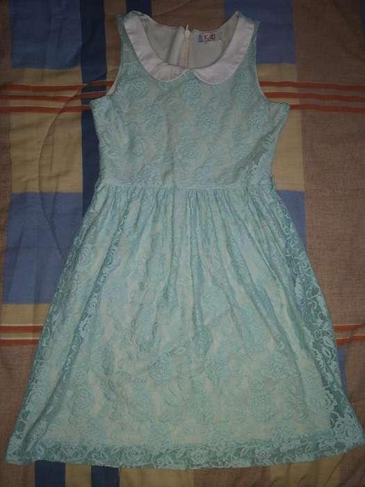 Vestido Menta Talla L (niña)