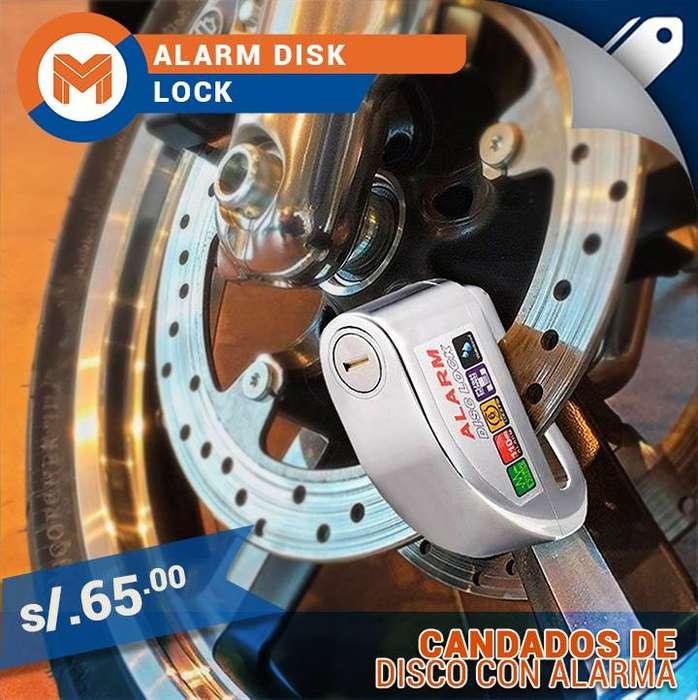 CANDADO DE DISCO CON <strong>alarma</strong>