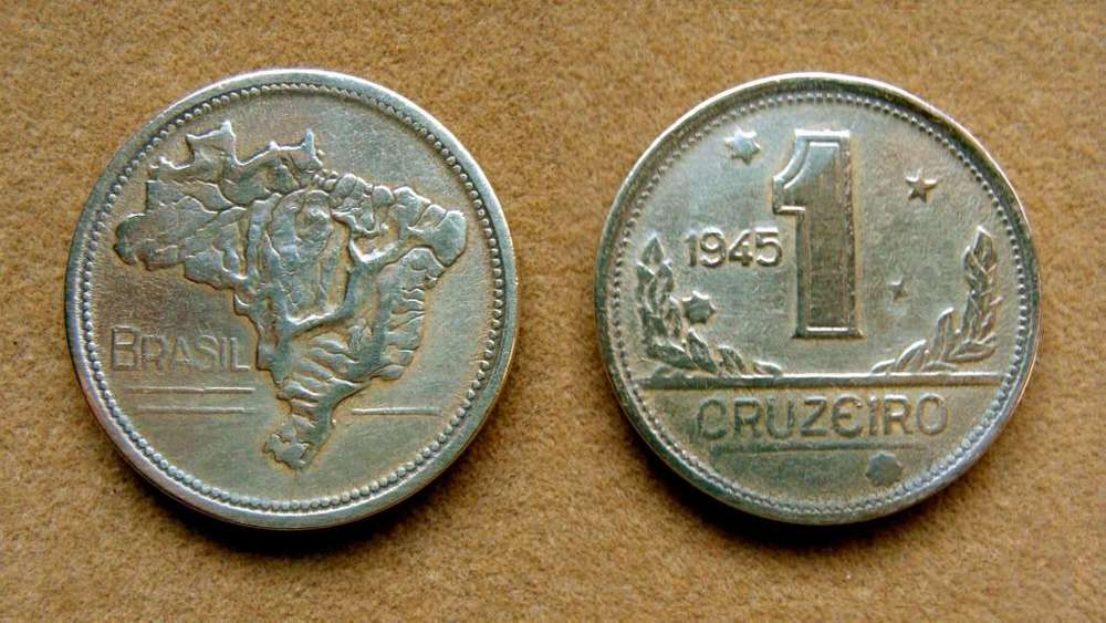 Moneda de 1 cruzeiro Brasil 1945