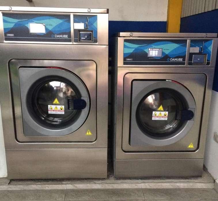 Venta de lavandería, solo maquinas industriales
