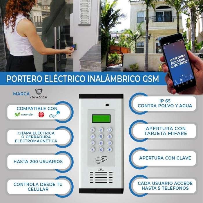 Portero Electrico inalambrico GSM-200 usuarios /controla a travez del <strong>celular</strong>-GSM