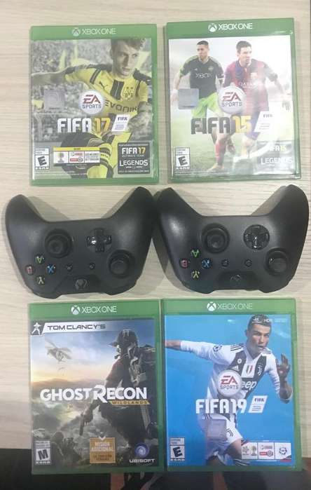 Controles xbox one 100% y 4 CD's