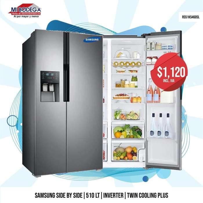 <strong>refrigerador</strong>a Samsung RS51K5460SL Side by Side de 510 litros, 20 pies