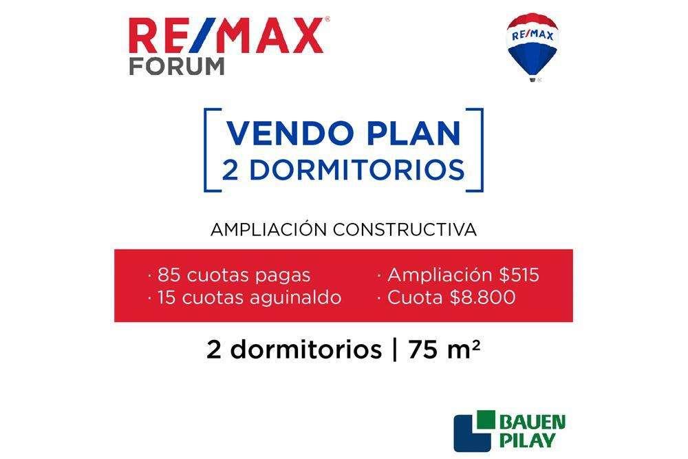 Plan Bauen Pilay dos dormitorios