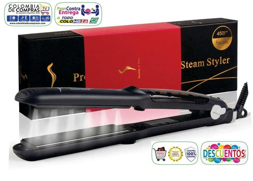 Plancha Cabello Profesional 450ºF Healthy & Silky tratamiento cerámica Vapor