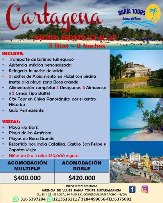 Tour Cartagena 22 de Agosto