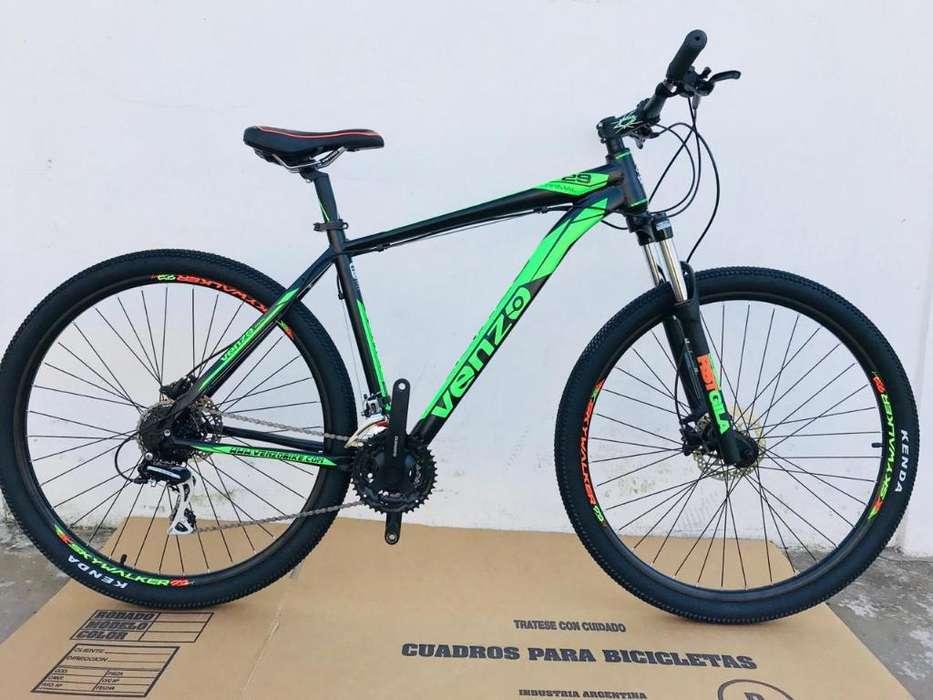 Bici Venzo Primal 29 24v Acera Bloqueo