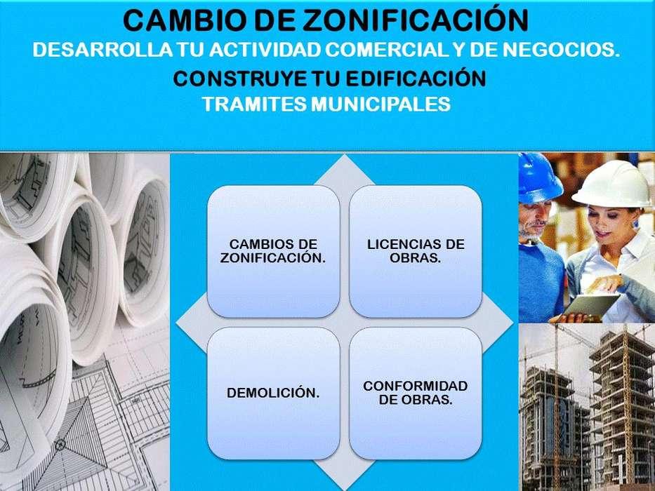 CAMBIO DE ZONIFICACION, LICENCIAS DE OBRAS Y HABILITACION URBANA
