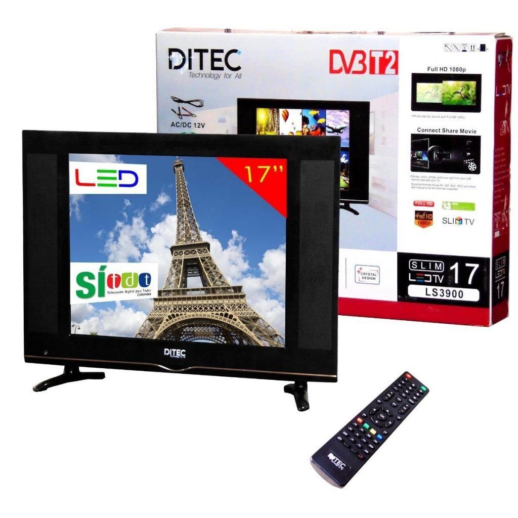 TELEVISOR 17 PULGADAS TDT DVB T2 FULL HD 1080P